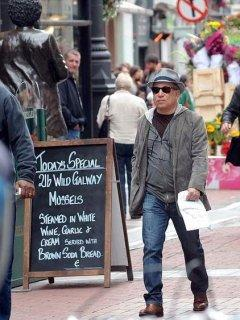 Paul shopping in Grafton Street Dublin ahead of his concerts.
