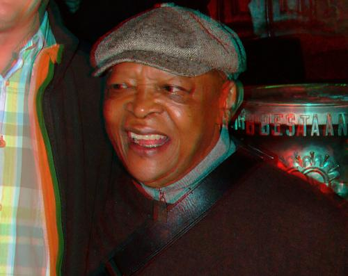 Hugh Masekela in 3D. Shot after the Tuschinski talk in Amsterdam; July 19, 2012. You need red/cyan glasses (which are very cheap) in order to see the 3D effect! Enjoy!