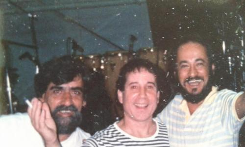With Dom Chacal and Airto Moreira while the Born at the Right Time tour.