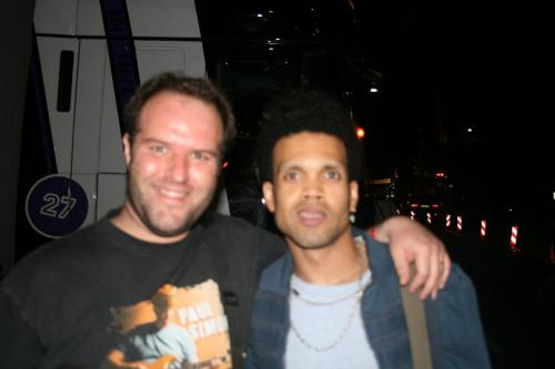 Me and Charlie Drayton after the show in Montreux 09 July 2008
