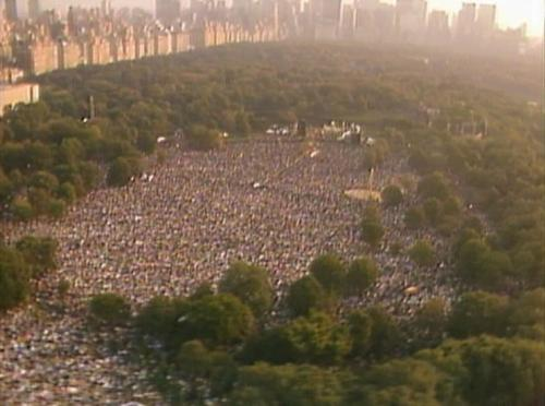 September 19, 1981, Central Park in New York City...All the people waiting for Simon & Garfunkel