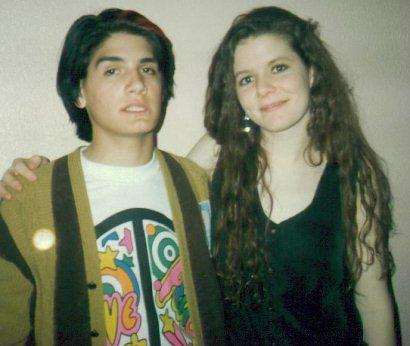A young Mrs.Simon with a fan.
