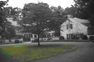 Paul's 6-bedroom, 8-bath home in New Canaan, CT. Built in 1938, 7,000 sq ft, 2 fireplaces, plus pool and 4 outbuildings. Purchased in 2002 for $16,500,000.
