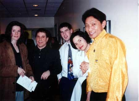 Paul, his wife Edie Brickell and some musicians from Tibet