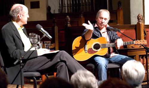 Billy Collins and Paul Simon at Rollins, October 15th, 2008.
