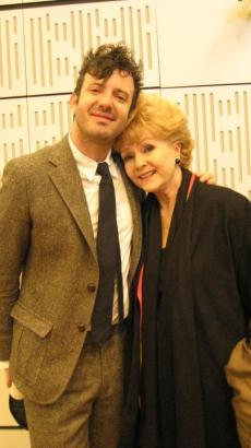 Harper and Debbie Reynolds at the BBC 4 show, April 2010